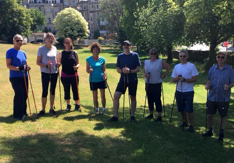 Nordic Walkers in Victoria Park, Bath