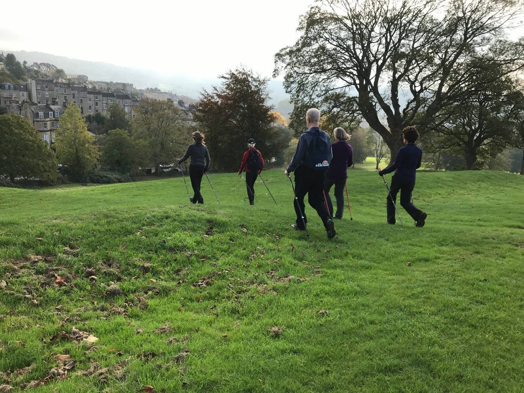 Nordic Walking in Victoria Park, Bath
